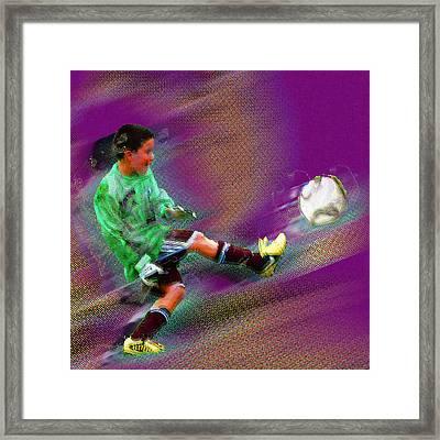 Custom Sport Portrait Family 3 Boy 2 Framed Print