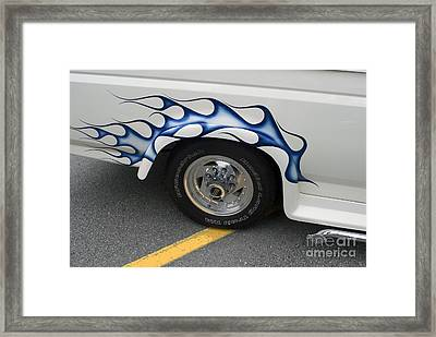 Custom Truck With Flames Framed Print