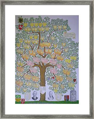 Customized Family Tree Framed Print by Alix Mordant