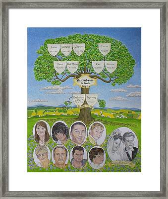 Customized Family Tree Wedding Anniversary Framed Print
