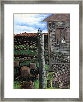 Cut Down Framed Print by Vernon Rowlette