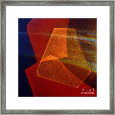 Cut Glass In Red-orange Framed Print by Elena Lir-Rachkovskaya