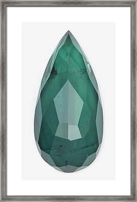 Cut Indicolite Gemstone Framed Print by Dorling Kindersley/uig
