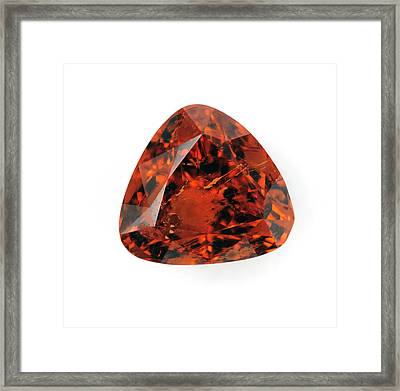 Cut Spessartine Gemstone Framed Print