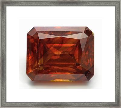 Cut Sphalerite Gemstone Framed Print by Dorling Kindersley/uig