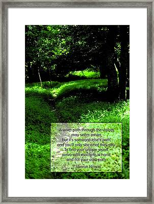 Cut Your Own Path Framed Print