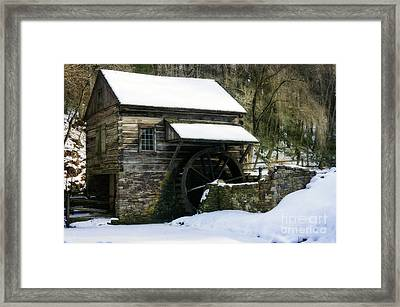 Framed Print featuring the photograph Cuttalossa Farm In Winter by Debra Fedchin