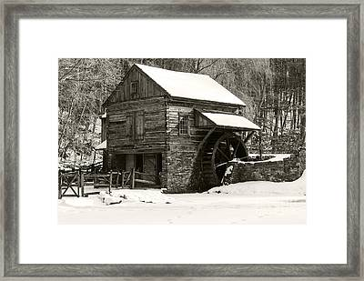 Cuttalossa In Winter Iv Framed Print by Debra Fedchin