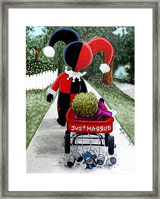 Cute And Crazy Love Framed Print