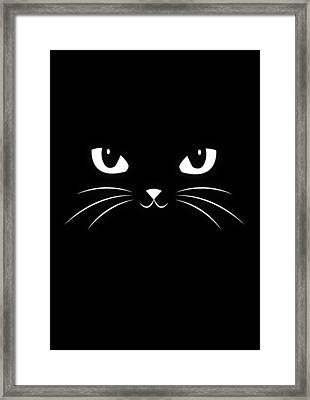 Cute Black Cat Framed Print by Philipp Rietz