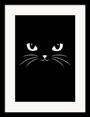 Happy Black Cats Framed Prints
