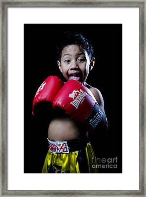 Cute Boxer Framed Print