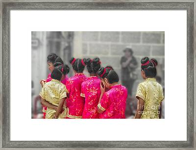 Cute Girls Framed Print by Michelle Meenawong