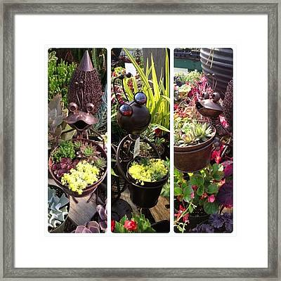 Cute Insect Planters Spotted Today Framed Print