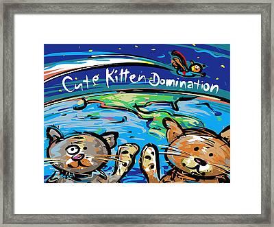 Cute Kitten Domination Framed Print