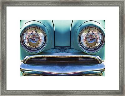 Cute Little Car Faces Number 1 Framed Print by Carol Leigh