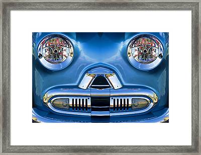 Cute Little Car Faces Number 2 Framed Print by Carol Leigh