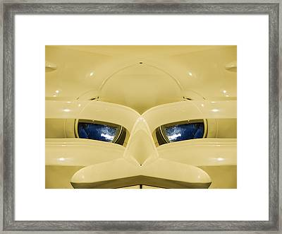 Cute Little Car Faces Number 3 Framed Print by Carol Leigh