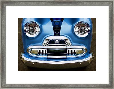 Cute Little Car Faces Number 4 Framed Print by Carol Leigh