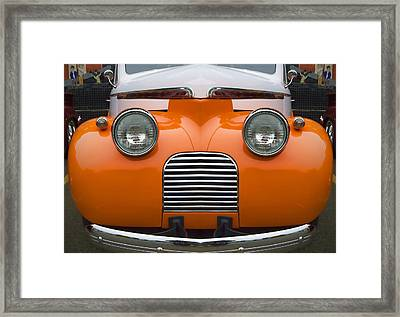 Cute Little Car Faces Number 5 Framed Print by Carol Leigh