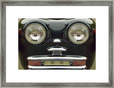 Cute Little Car Faces Number 6 Framed Print by Carol Leigh
