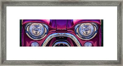 Cute Little Car Faces Number 7 Framed Print by Carol Leigh