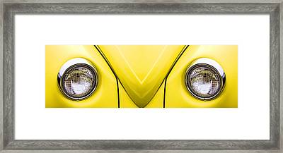 Cute Little Car Faces Number 8 Framed Print by Carol Leigh
