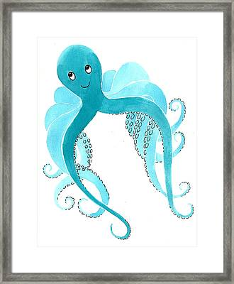 Cute Octopus Painting Framed Print