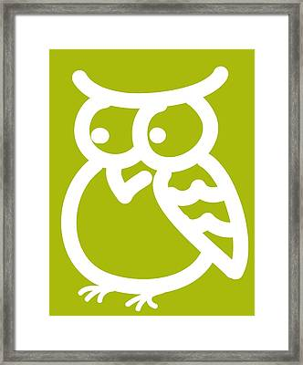 Cute Owl Nursery Print Framed Print by Nursery Art