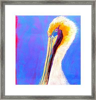 Cute Pelican Framed Print