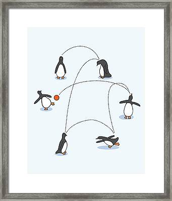 Cute Penguin Art Framed Print by Christy Beckwith
