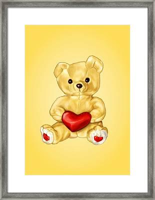 Cute Teddy Bear Hypnotist Framed Print