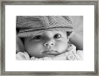 Cutest Hat Head Framed Print by Stephanie Grooms