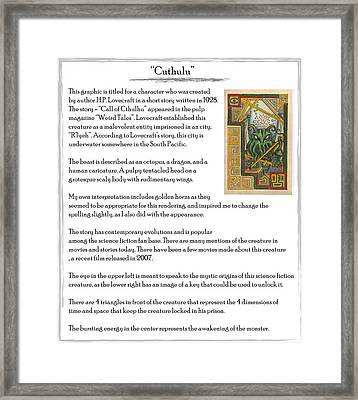 Cuthulu Story Framed Print by Michael Lee