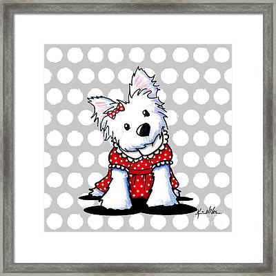 Cutiepie Westie Girl Framed Print by Kim Niles
