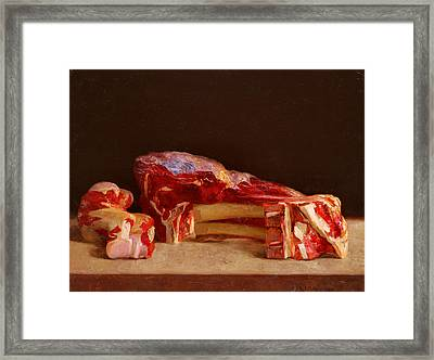 Cutlet And Bone Framed Print by Ben Rikken