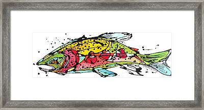 Framed Print featuring the painting Cutthroat Trout by Nicole Gaitan
