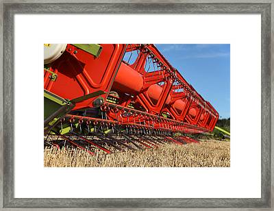 Cutting Deck And Header Framed Print by Paul Lilley
