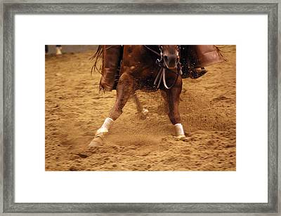 Cutting Horse 6 Framed Print