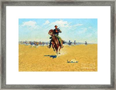 Cutting Out Pony Herds Framed Print by Pg Reproductions