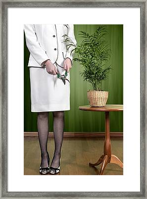 Cutting Plant Framed Print