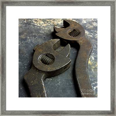 Cutting Pliers Framed Print by Bernard Jaubert