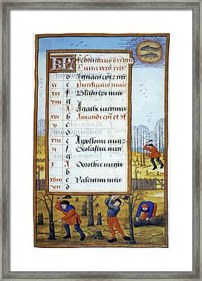 Cutting Trees, C1500 Framed Print by Granger