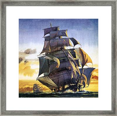 Cutty Sark Framed Print by English School