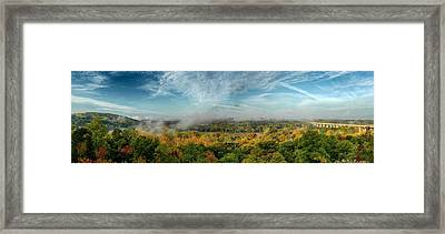 Cuyahoga Valley Panarama Framed Print by Daniel Behm