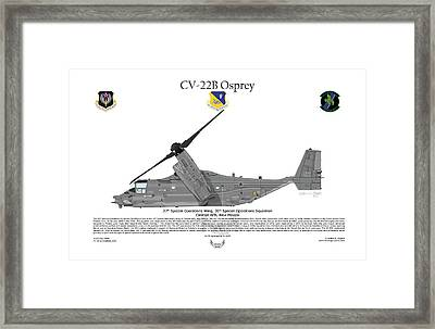 Cv-22b Osprey 20th Sos Framed Print