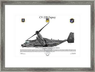 Cv-22b Osprey 71st Sos Framed Print by Arthur Eggers