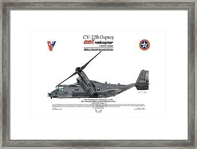 Cv-22b Osprey Framed Print