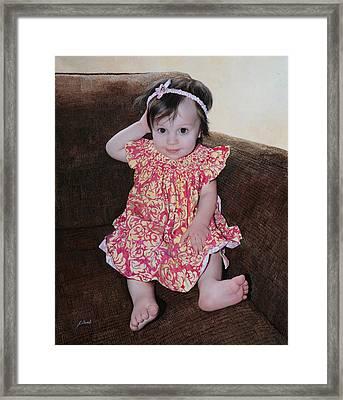 Chloe Framed Print by Guido Borelli