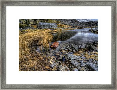 Cwmorthin Slate Quarry Framed Print by Ian Mitchell